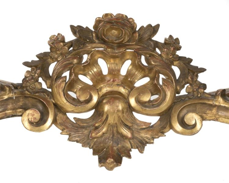 A Continental carved giltwood console table