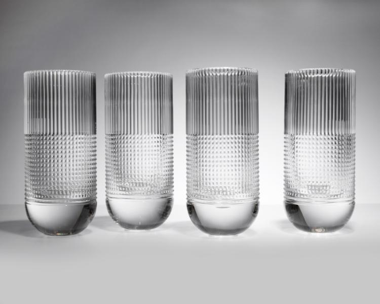 Four French Saint Louis crystal vases