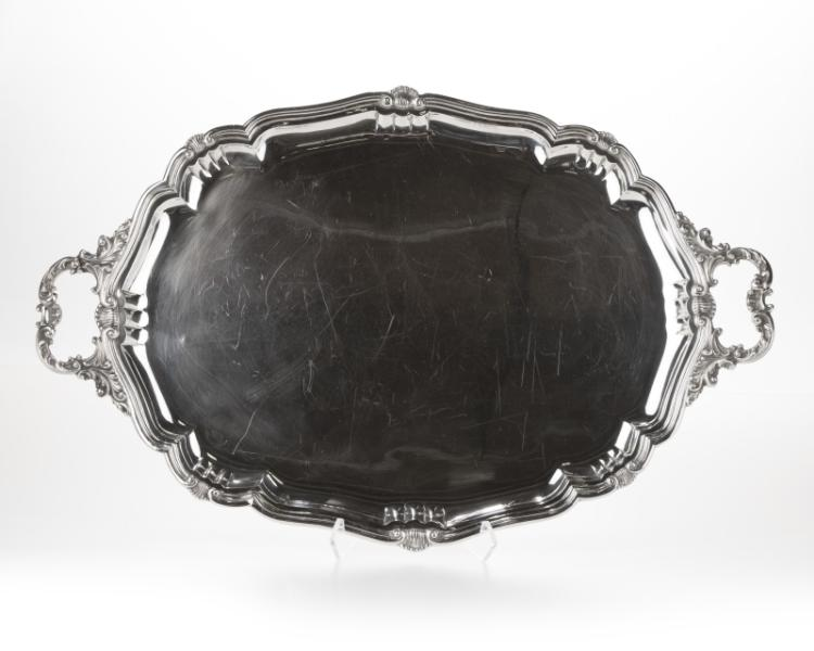 A Buccellati sterling silver handled tray