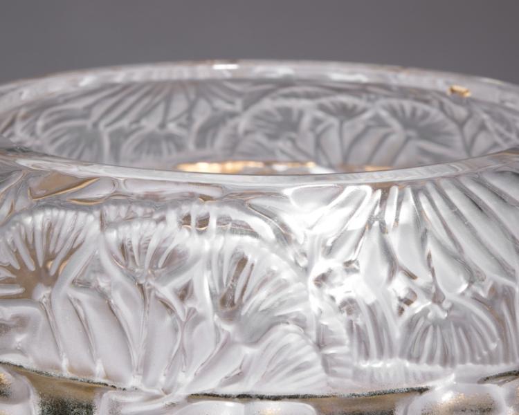A Lalique ''Angelique'' art glass vase