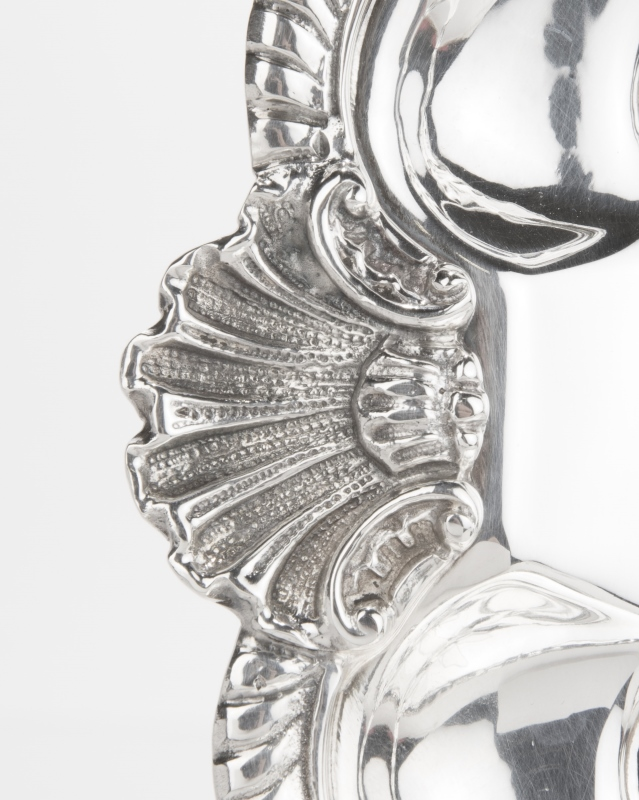 Three Italian sterling silver serving trays