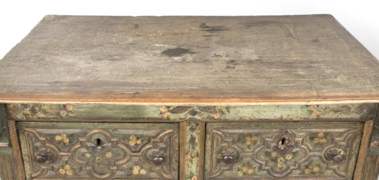 A Spanish Baroque polychrome-painted chest