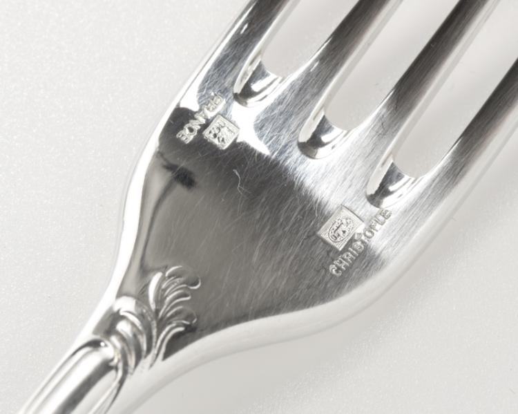 Christofle ''Marly'' silverplate flatware service