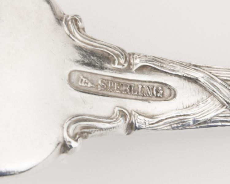 Partial sterling silver ''Lily'' flatware service