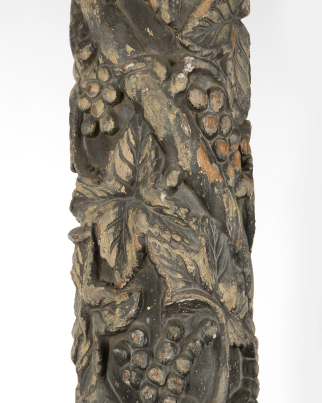A pair of Continental carved wood columns