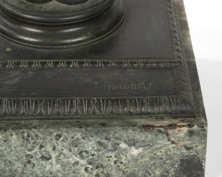 An Italian bronze console table