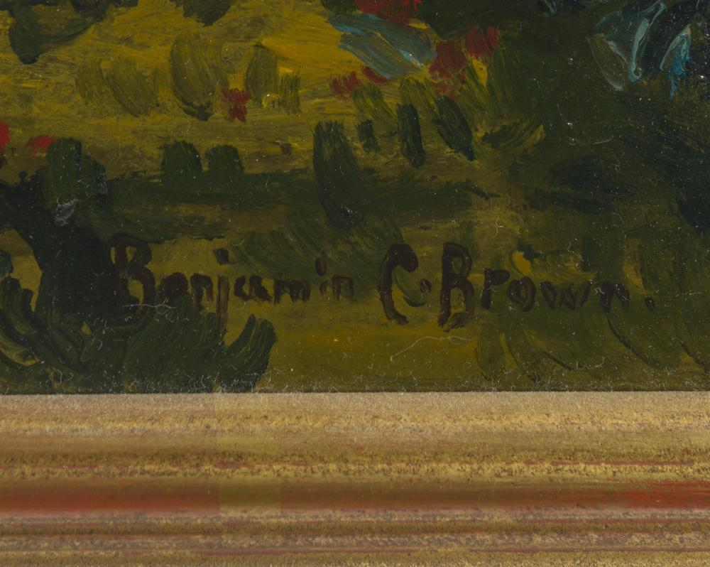 Benjamin Chambers Brown, (1865-1942 Pasadena, CA), California sunset, Oil on canvas, 18