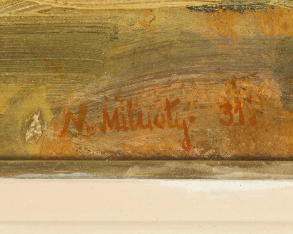 Nikolai Dimitrievich Milioti, (1874-1962 Russian), Floral still life, 1931, Oil on board, 23.75