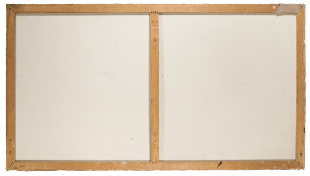 Elena Moross, (b. 1955 American), Four girls, 1985, Acrylic on canvas, 30