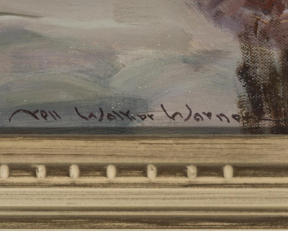 Nell Walker Warner, (1891-1970 Carmel, CA), Landscape with fence, Oil on canvas, 20