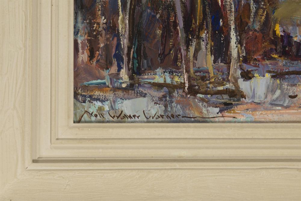 Nell Walker Warner, (1891-1970 Carmel, CA), Trees in a landscape, Oil on canvas, 16