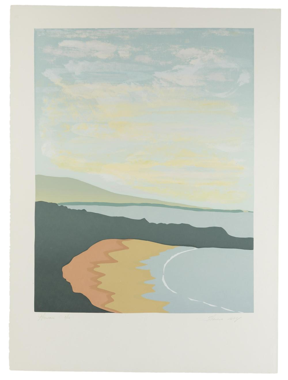 """Theresa Wolf, (20th Century American), """"Hawaii"""", Serigraph on BFK Rives paper, Image: 23.25"""" H x 18"""" W; Sheet: 30"""" H x 22.25"""" W"""