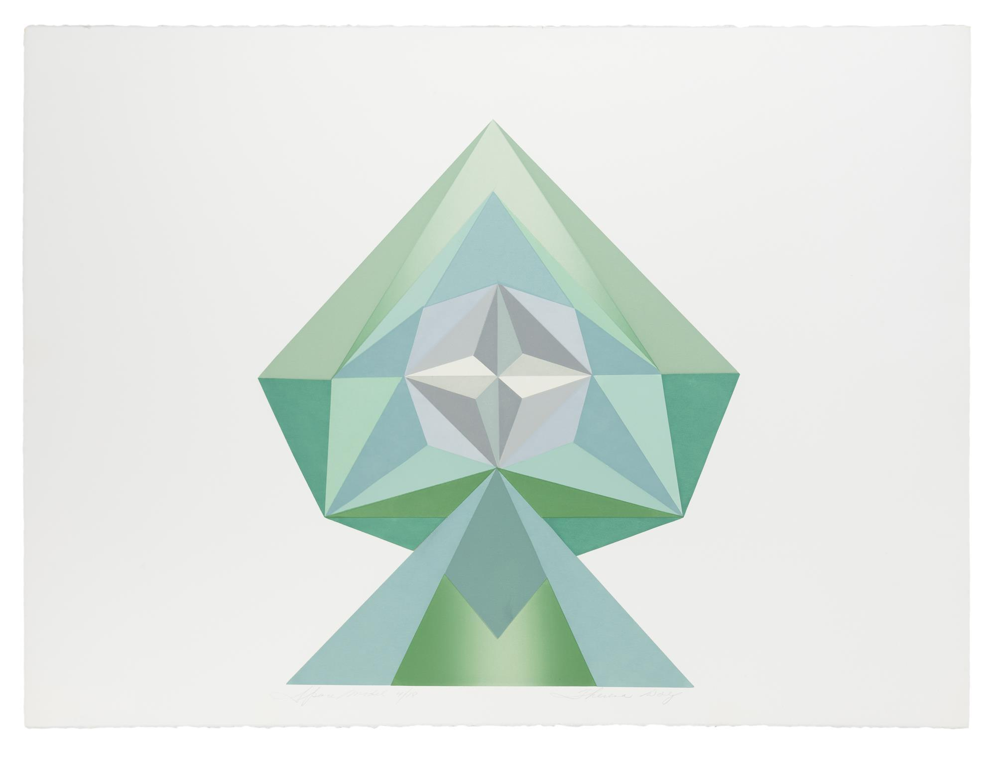 "Theresa Wolf, (20th Century American), ""Space Model"", Serigraph on BFK Rives paper, Image: 18"" H x 15.25"" W; Sheet: 22"" H x 30"" W"