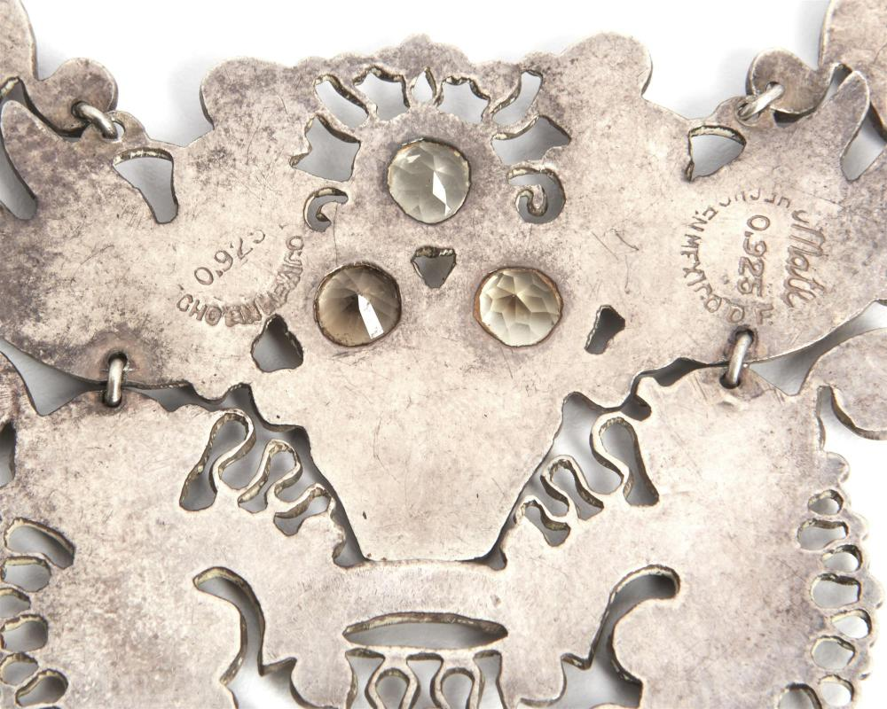 Image ref B7420D5A36 - A Matl silver and gem-set necklace