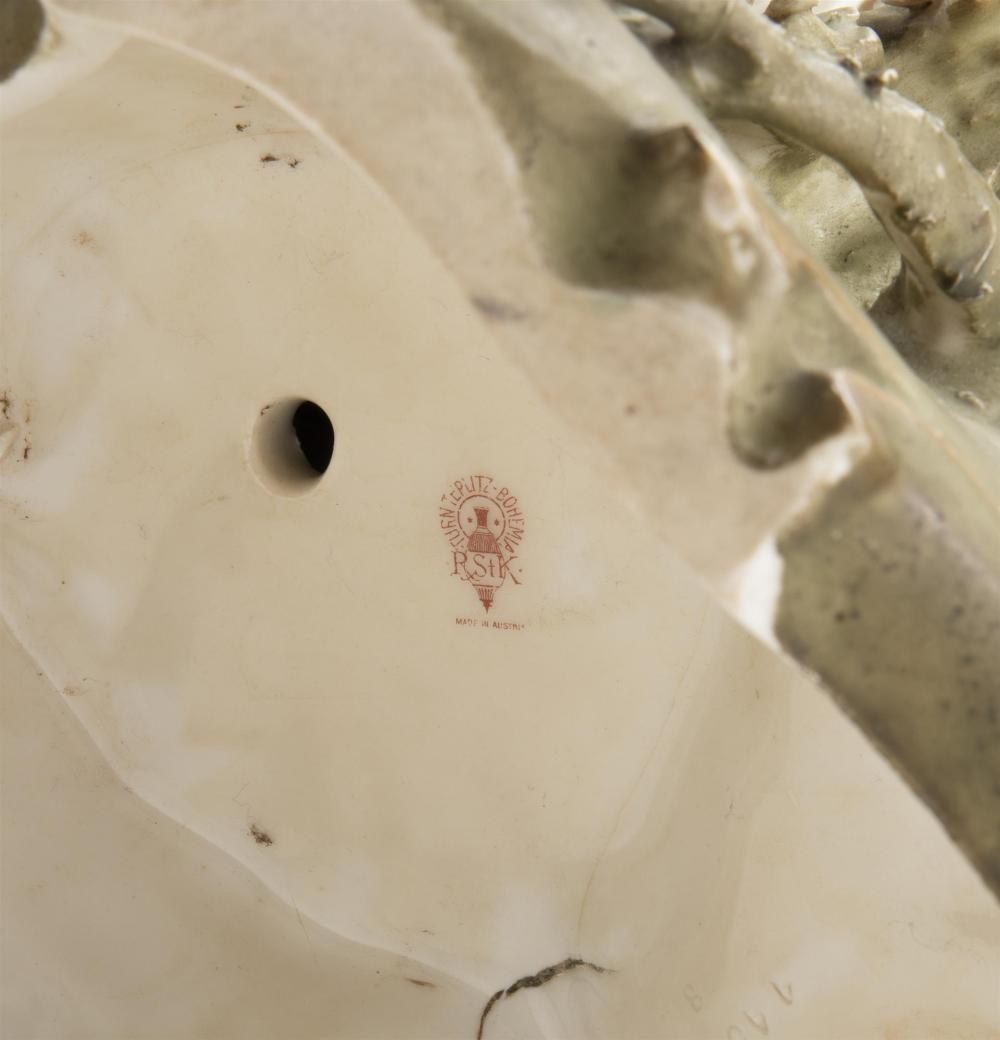 An opposing pair of RStK Amphora shell vases
