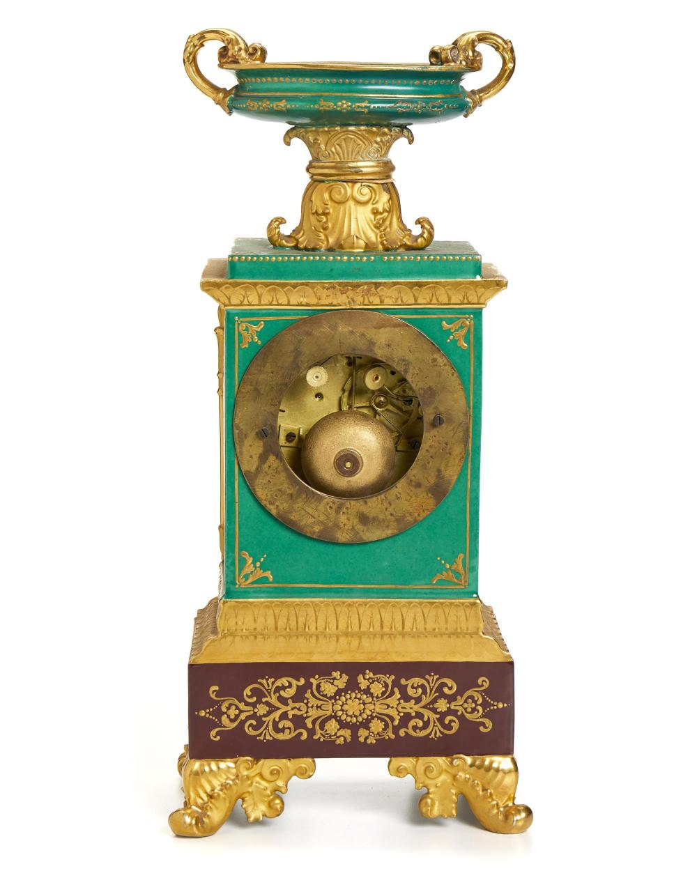 A Jacob Petite painted porcelain clock