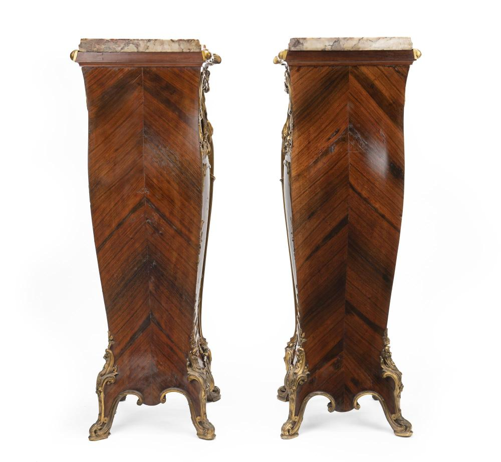 A pair of Louis XV-style pedestals