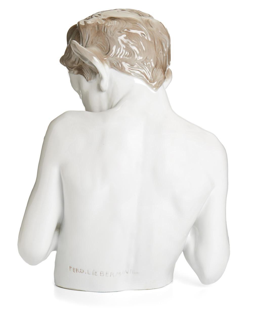 A Ferdinand Liebermann porcelain sculpture,
