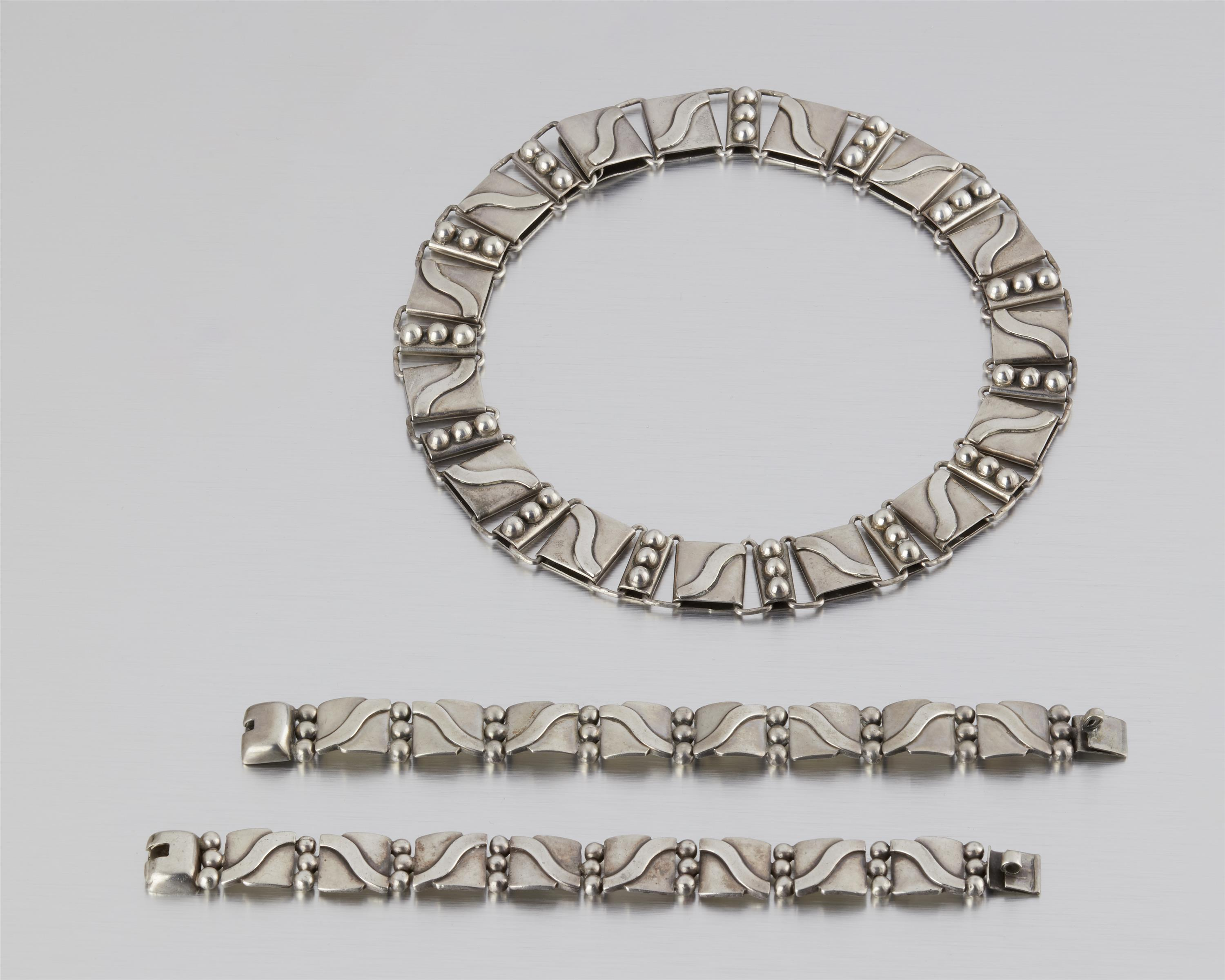 A set of Hector Aguilar silver jewelry