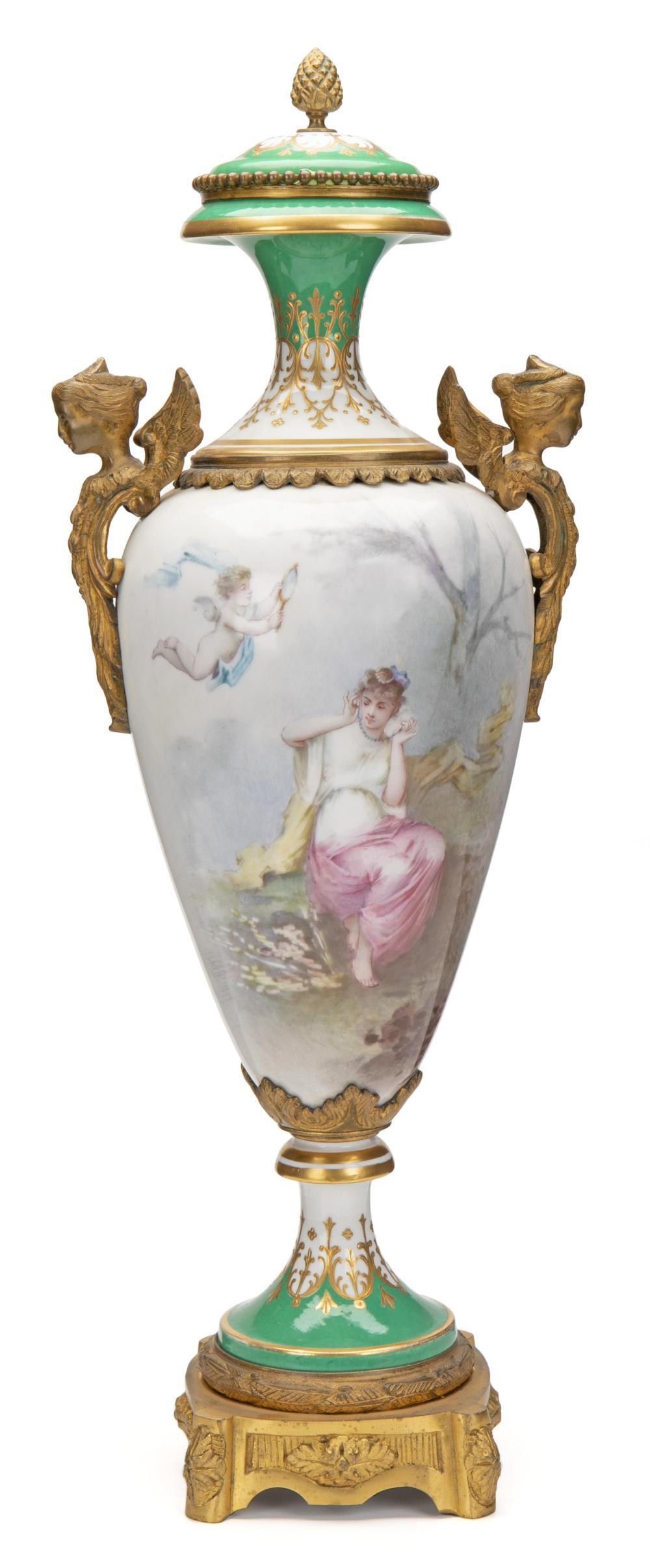 Image ref CC5E2300E3 - A Sèvres urn with portrait scene
