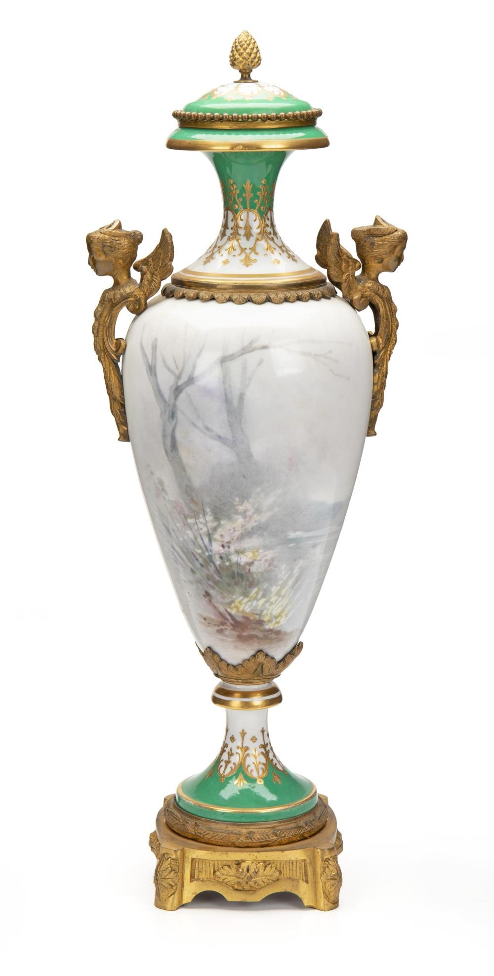 Image ref 78157F5097 - A Sèvres urn with portrait scene
