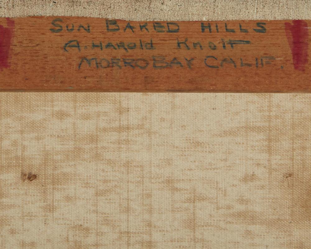 Arthur Harold Knott, (1883-1977, Morro Bay, CA),