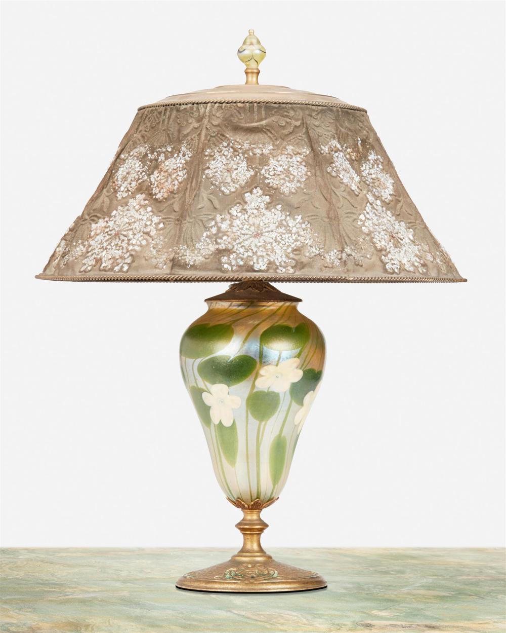A Tiffany Studios Favrile glass table lamp