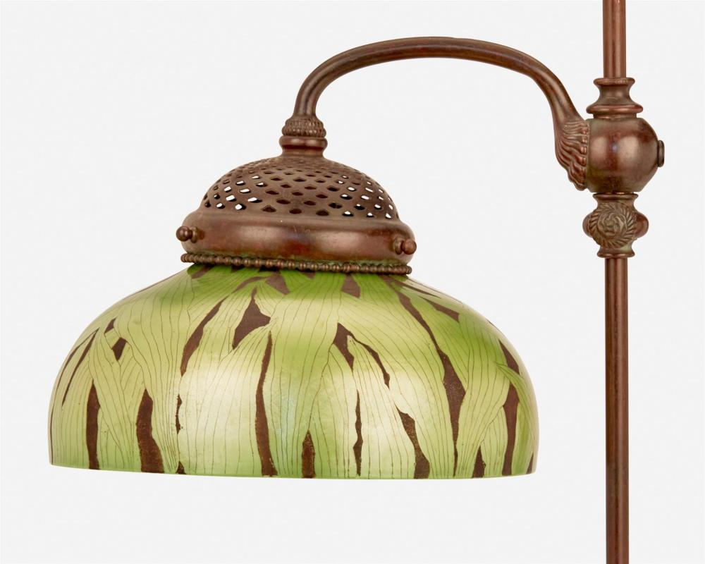A Tiffany Studios adjustable table lamp