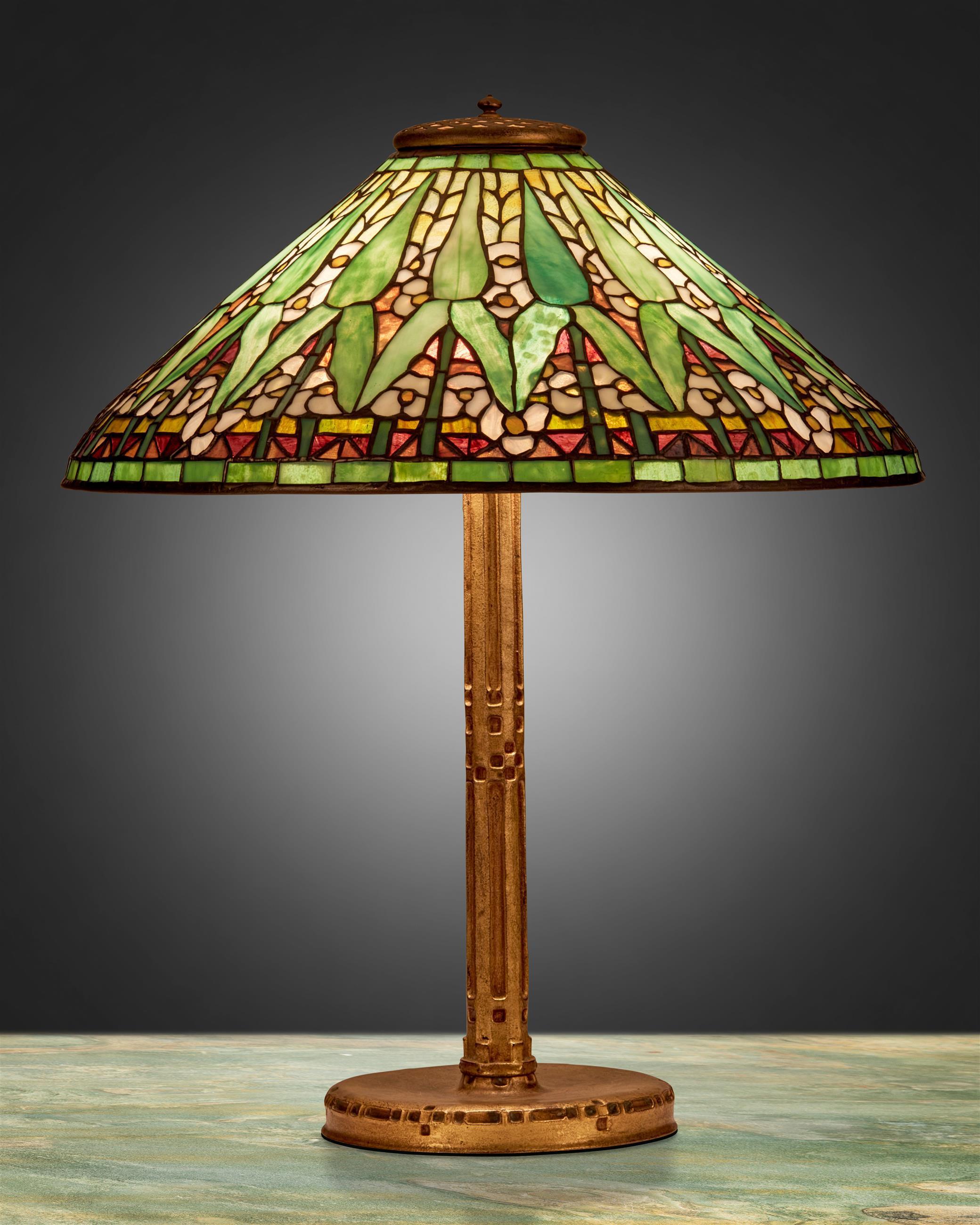 """A Tiffany Studios """"Arrowroot"""" table lamp"""