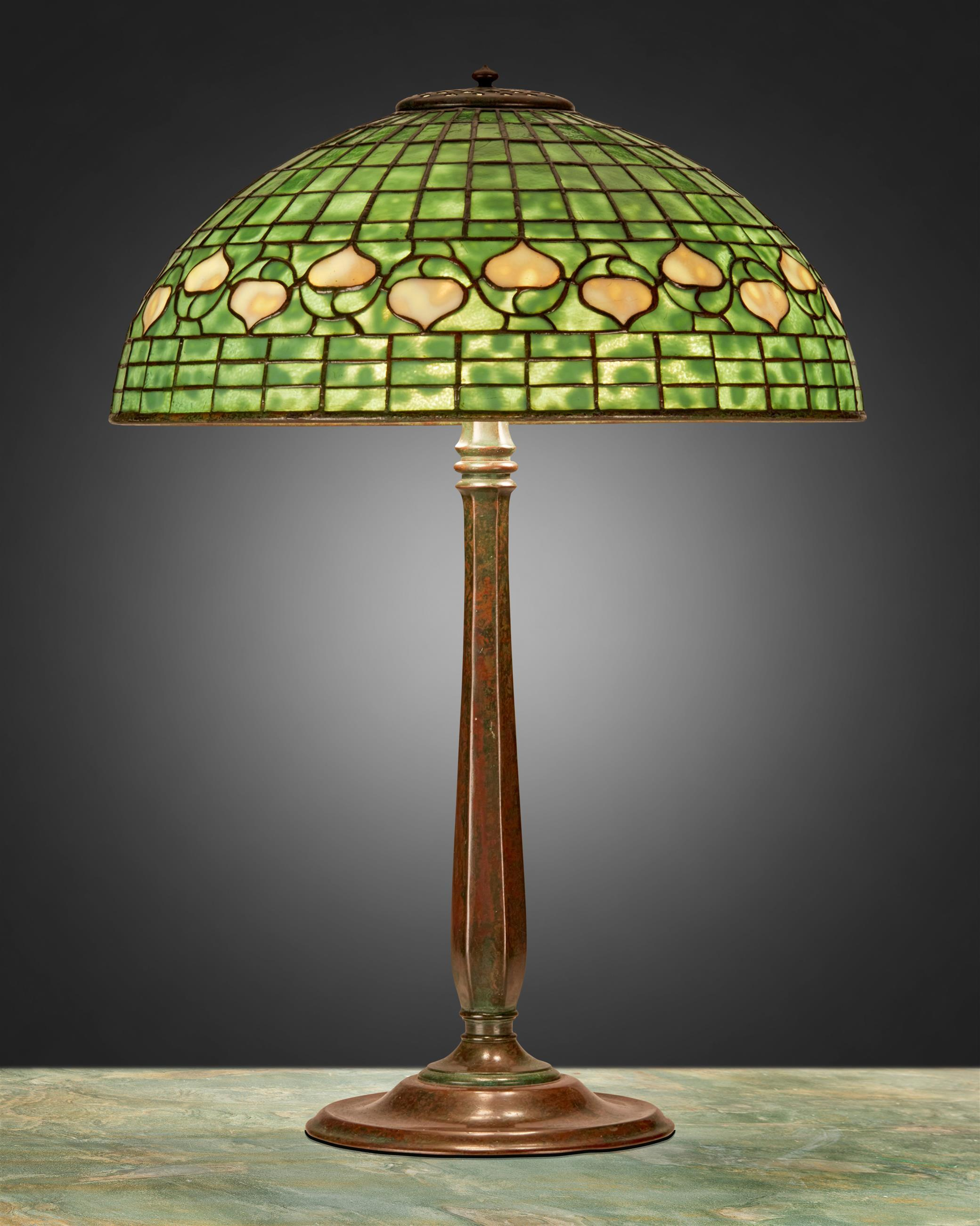 "A Tiffany Studios ""Acorn"" table lamp"