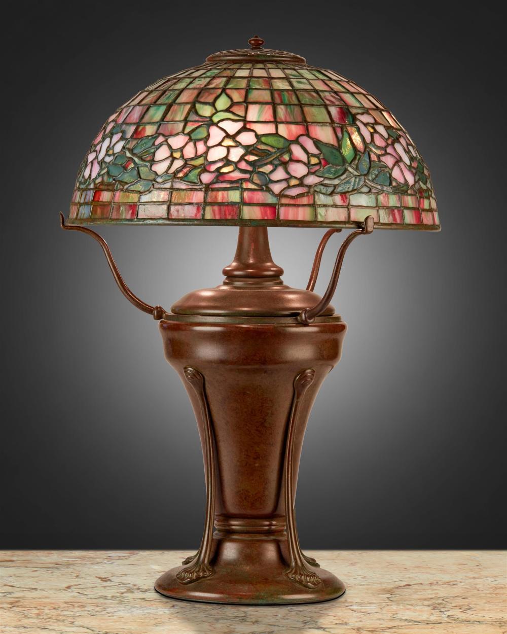 "A Tiffany Studios ""Dogwood"" table lamp"