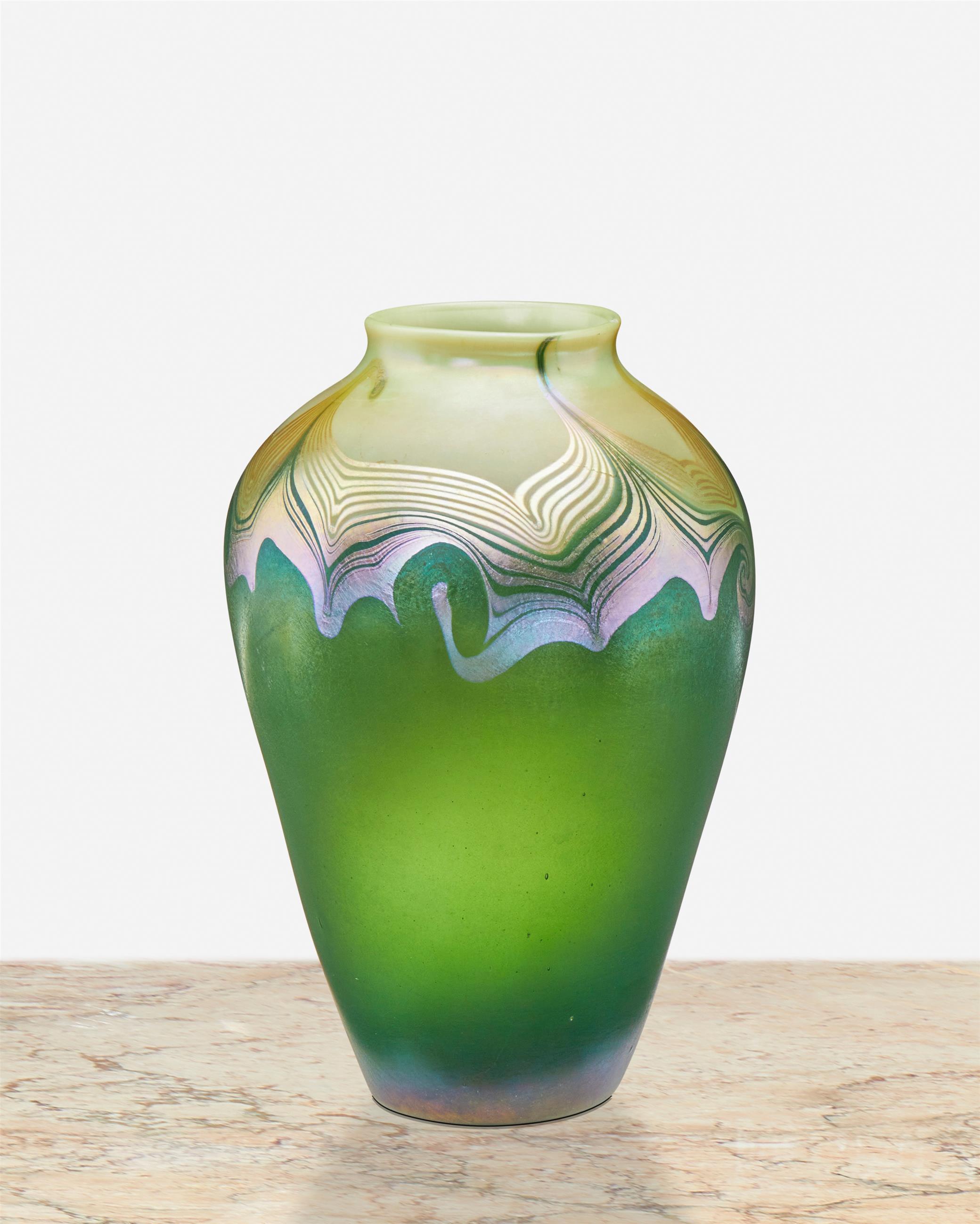 A L.C. Tiffany Favrile glass vase