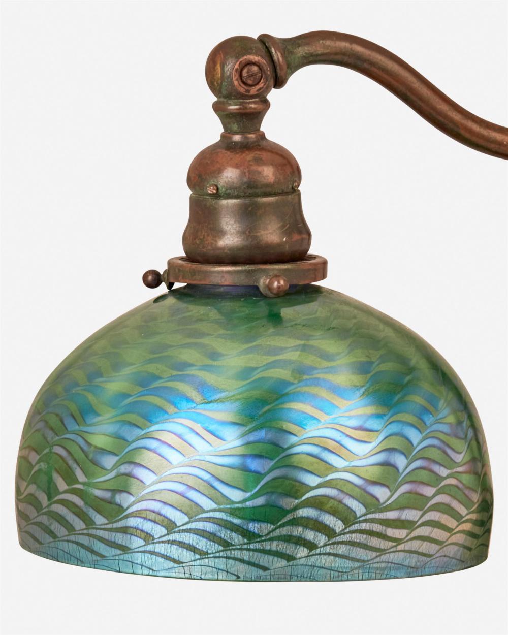 A Tiffany Studios counter-balance desk lamp