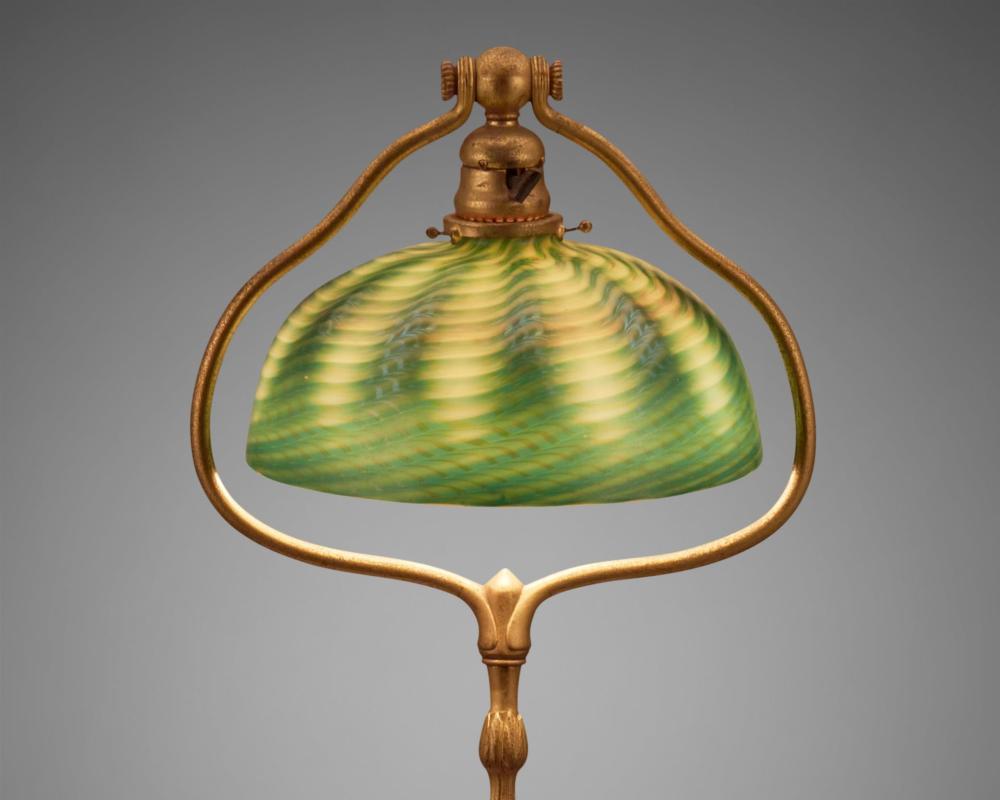 A Tiffany Studios harp floor lamp