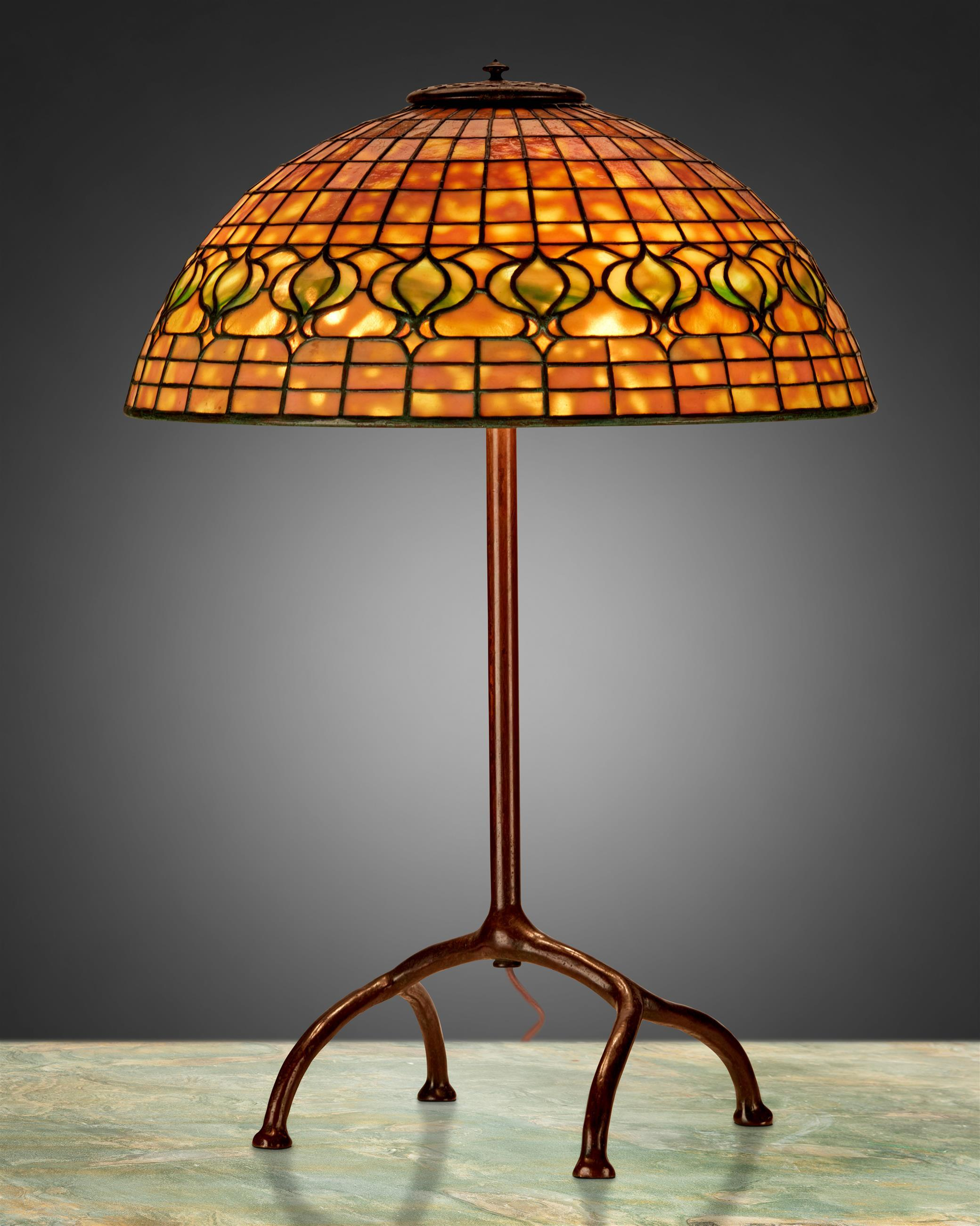 "A Tiffany Studios ""Pomegranate"" table lamp"