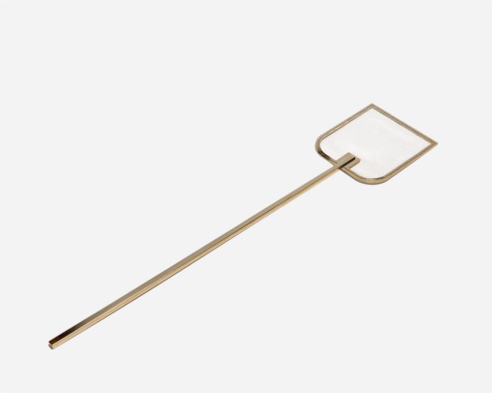 "Ai Weiwei, (b. 1957, Chinese), ""Swatter,"" 2007, 14k gold plated brass, .25"" H x 21.25"" W x 4.375"" D"
