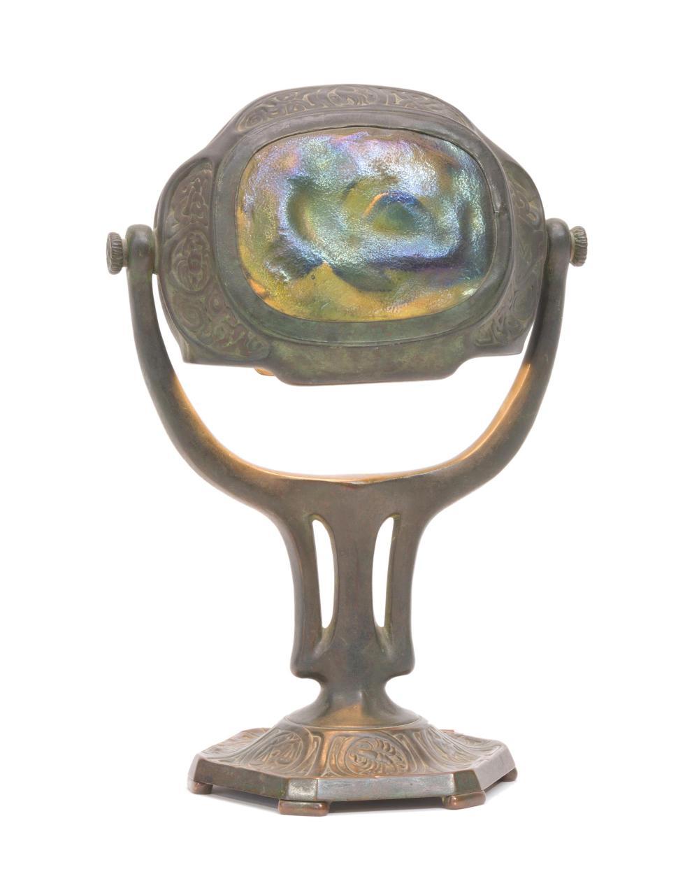 "A Tiffany Studios ""Zodiac"" turtleback desk lamp"