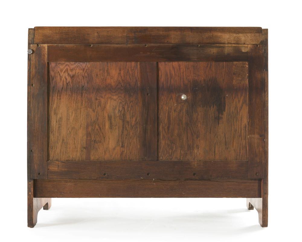 A Gustav Stickley oak serving table, No. 808