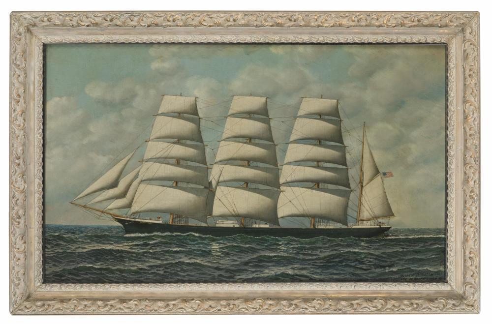 Antonio Nicolo Gasparo Jacobsen, (1850-1921 Hoboken, NJ), The American Bark,