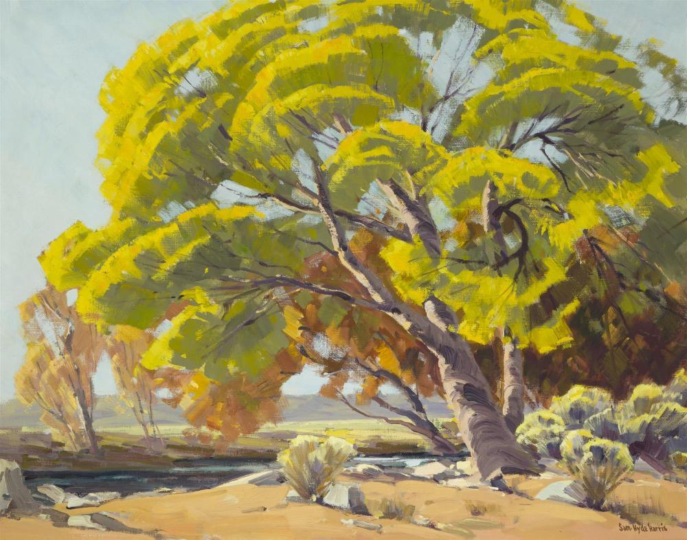 "Sam Hyde Harris, (1889-1977 Alhambra, CA), ""Kern Memory"", Oil on canvas, 24"" H x 30"" W"