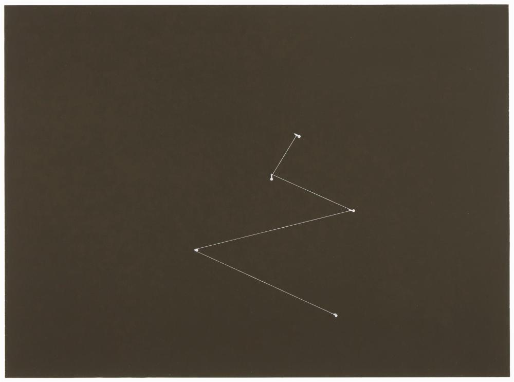 "Florian Pumhosl, (b. 1971, Austrian), ""Ebene G (1),"" 2003, Photogram on Bergger Baryta paper, mounted on Alucobond under glass, 11.75"""