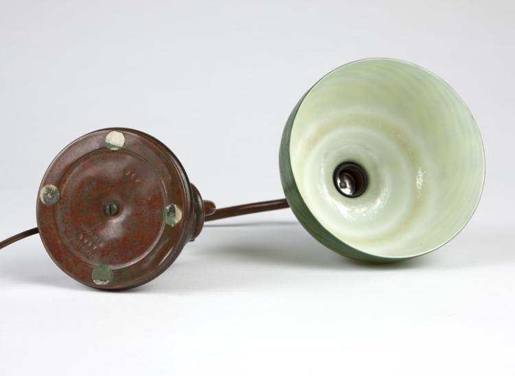 A Tiffany counterbalance lamp and Favrile shade