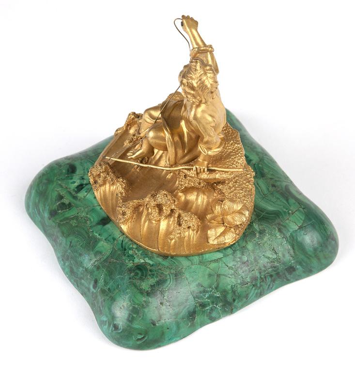 A Russian gilt bronze figure
