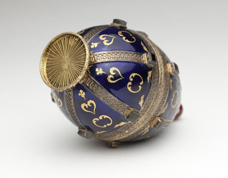 A vermeil and enamel Faberge-style Easter egg