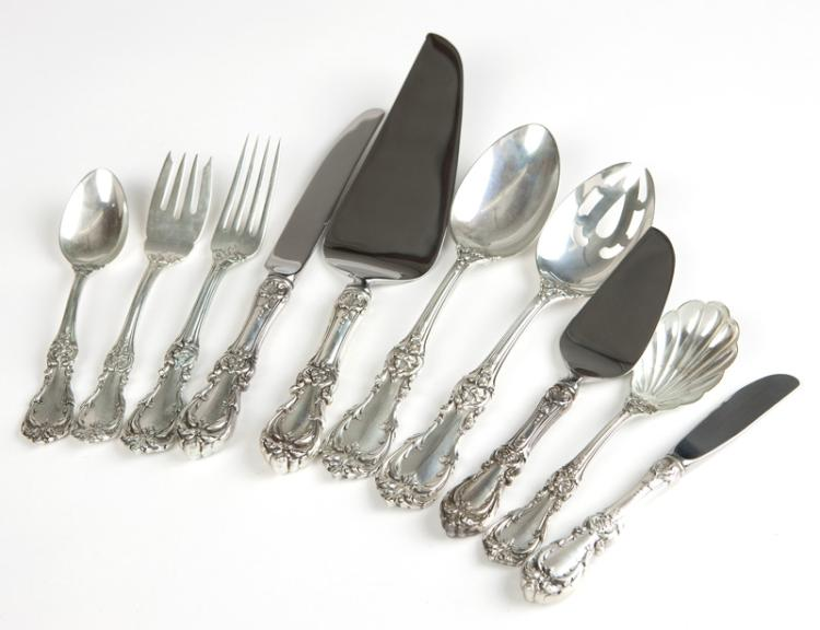 A partial set of Reed & Barton sterling flatware