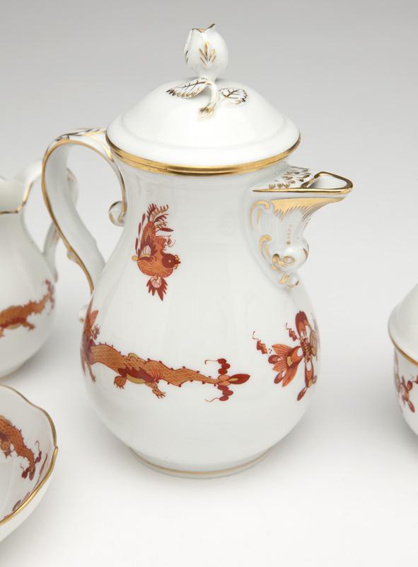 A Meissen ''Ming Dragon'' demi coffee service