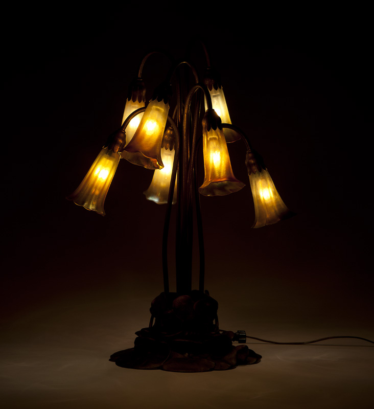 A Tiffany Studios ''Lily'' lamp #385