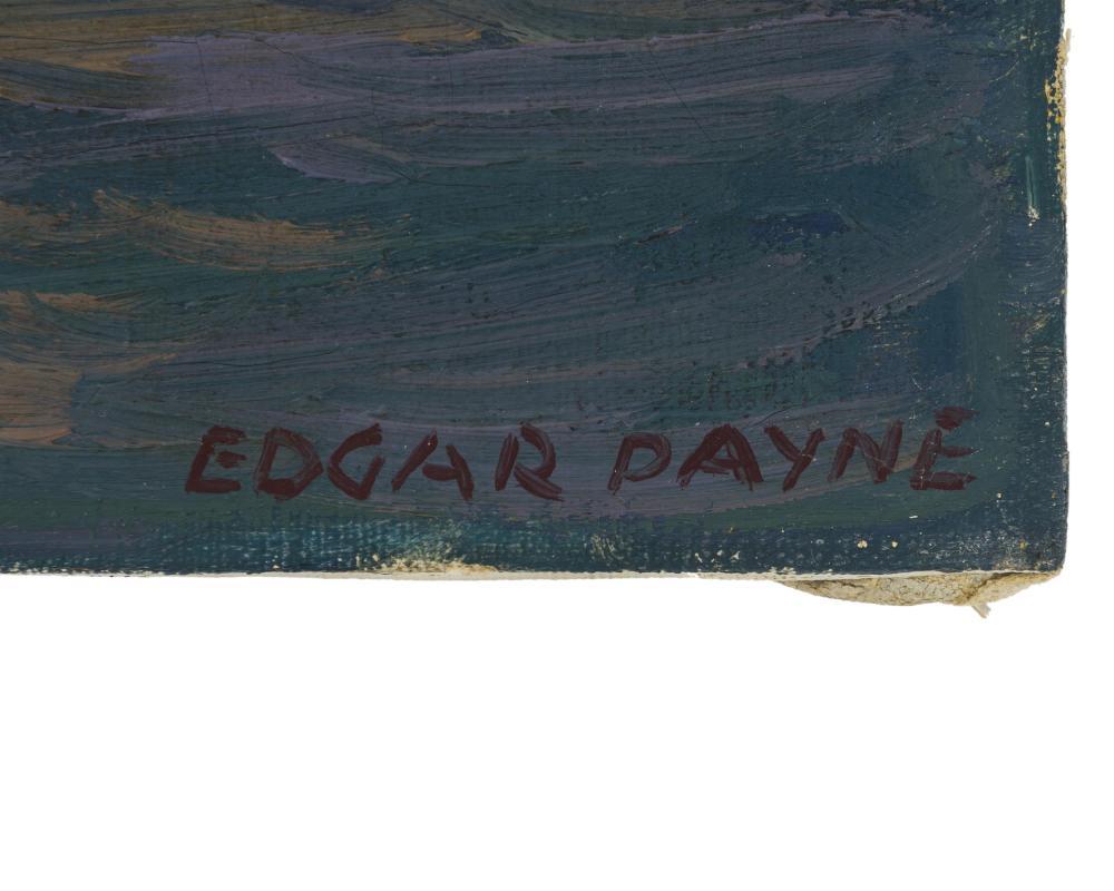Edgar Alwin Payne, (1883-1947 Hollywood, CA), Italian cargo boats, Oil on canvas, 16
