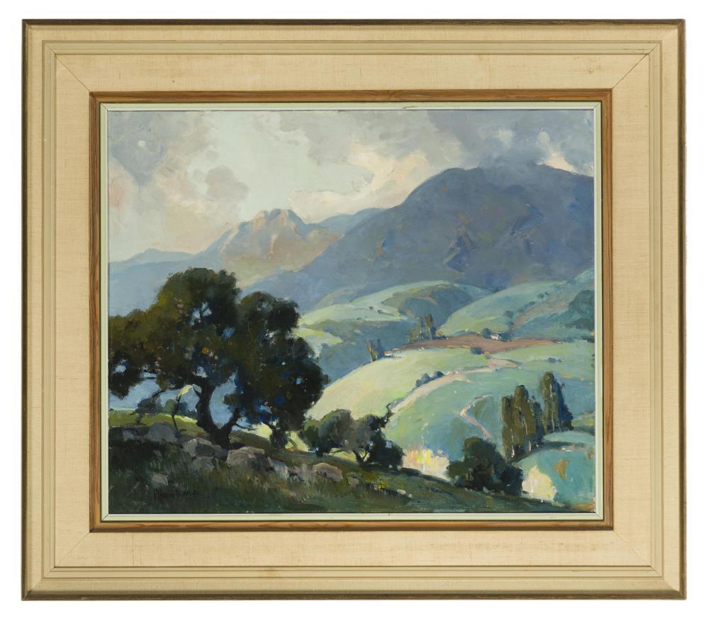 Orrin A. White, (1883-1969 Pasadena, CA), Santa Barbara mountains landscape, Oil on canvas, 20
