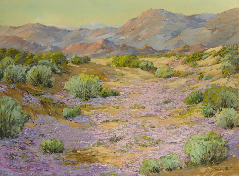 "George Demont Otis, (1879-1962 Kentfield, CA), ""Desert Bloom,"" 1926, Oil on canvas, 30"" H x 40"" W"
